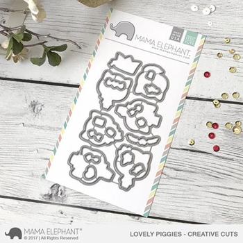 Mama Elephant LOVELY PIGGIES Creative Cuts Steel Die Set