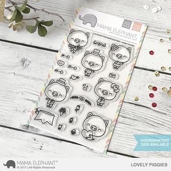 Mama Elephant Clear Stamps LOVELY PIGGIES