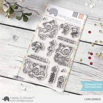 Mama Elephant Clear Stamps LION DANCE