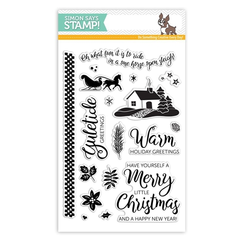 Simon's Excluive Yuletide Greetings Clear Stamp Set