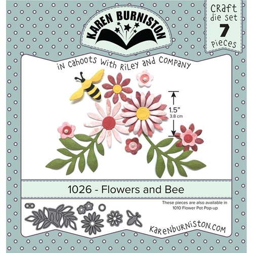 Karen Burniston FLOWERS AND BEE Die Set 1026 Preview Image