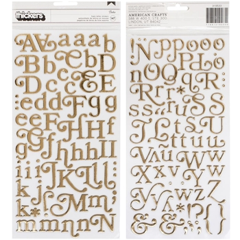 American Crafts BOHO Spellcast Alpha Thickers Stickers 310533*