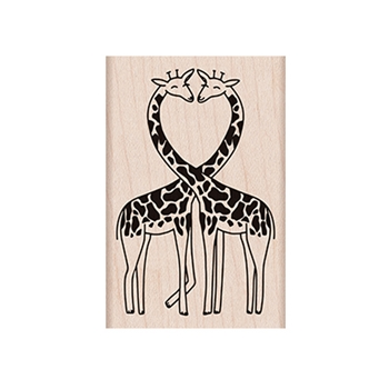 Hero Arts Rubber Stamps LOVING GIRAFFES H6261