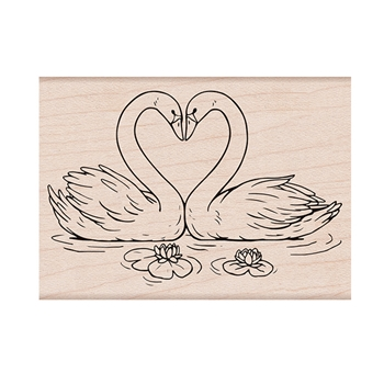 Hero Arts Rubber Stamps LOVING SWANS H6260