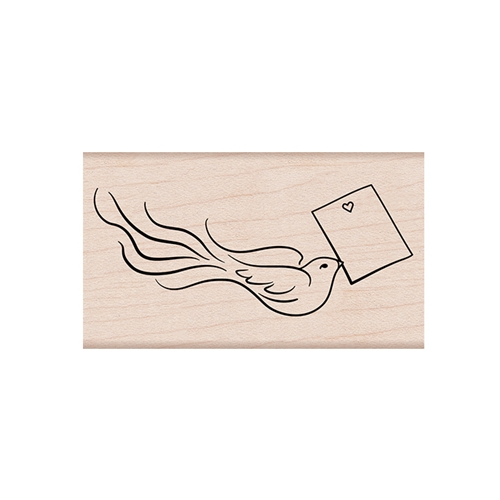 Hero Arts Rubber Stamps LOVE NOTE BIRD G6259 Preview Image