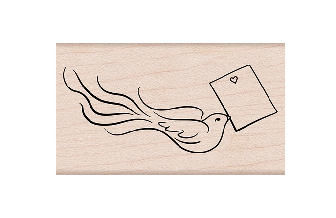 Hero Arts Rubber Stamps LOVE NOTE BIRD G6259 zoom image
