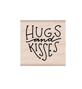 Hero Arts Rubber Stamps HUGS AND KISSES MESSAGE A6265