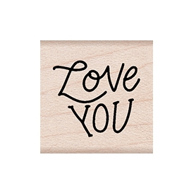 Hero Arts Rubber Stamps LOVE YOU MESSAGE A6264