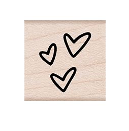 Hero Arts Rubber Stamps THREE TINY HEARTS A6263