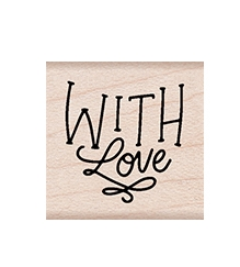 Hero Arts Rubber Stamps WITH LOVE MESSAGE A6262