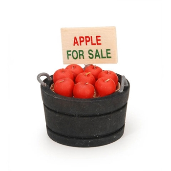 Darice MINI BUCKET OF APPLES Timeless Minis 231626D