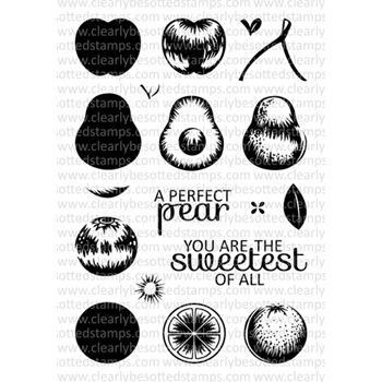 Clearly Besotted FRUITFUL Clear Stamp Set