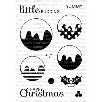 Clearly Besotted CHRISTMAS PUDDING Clear Stamp Set