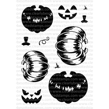 Clearly Besotted HAPPY HALLOWEEN Clear Stamp Set
