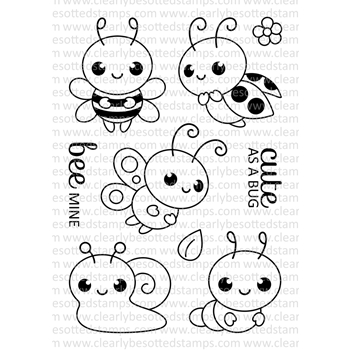 Clearly Besotted BUG'S LIFE Clear Stamp Set