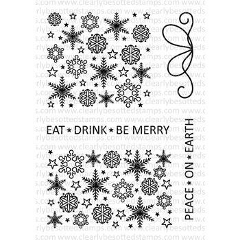 Clearly Besotted CHRISTMAS SPARKLE TOO Clear Stamp Set