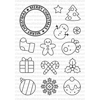 Clearly Besotted CHRISTMAS TREATS Clear Stamp Set