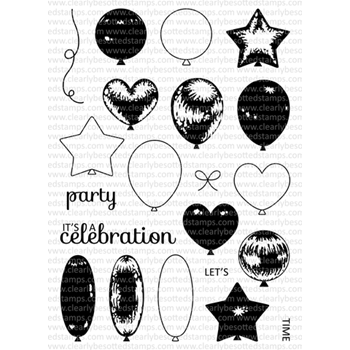 Clearly Besotted LET'S PARTY AGAIN Clear Stamp Set