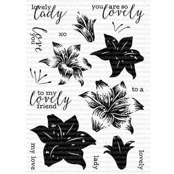 Clearly Besotted LOVELY LILIES Clear Stamp Set