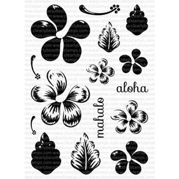 Clearly Besotted ALOHA AGAIN Clear Stamp Set