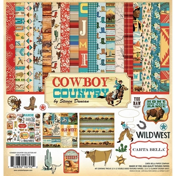 Carta Bella COWBOY COUNTRY 12 x 12 Collection Kit cbcc77016