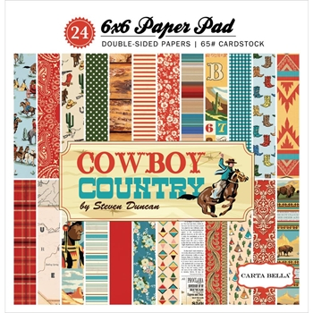Carta Bella COWBOY COUNTRY 6 x 6 Paper Pad cbcc77015
