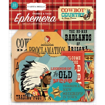 Carta Bella COWBOY COUNTRY Ephemera cbcc77021