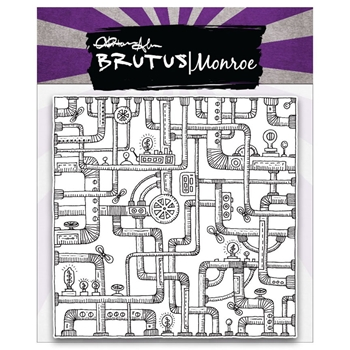 Brutus Monroe Clear Stamps PIPE BACKGROUND BRU1076