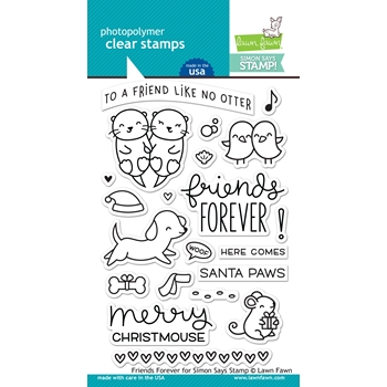 Lawn Fawn Exclusive FRIENDS FOREVER Limited Edition Clear Stamps LF1670