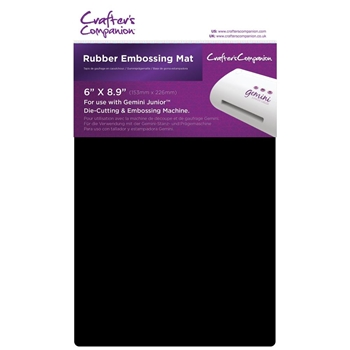Crafter's Companion 6 x 8.9 RUBBER EMBOSSING MAT Gemini Junior gemjrubm