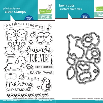 Lawn Fawn Cyber Week Exclusive SET LF17SETFVR FRIENDS FOREVER Limited Edition Clear Stamps and Dies