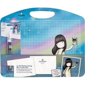 DoCrafts A4 SELF-HEALING CUTTING MAT & CRAFT KNIFE SET Gorjuss 26800