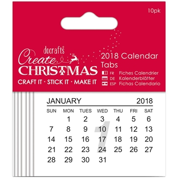 Docrafts 2018 CALENDAR TABS Papermania 17231
