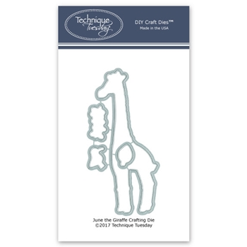 Technique Tuesday JUNE THE GIRAFFE DIY Steel Dies 02552
