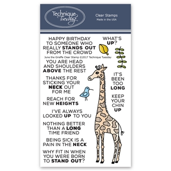 Technique Tuesday JUNE THE GIRAFFE Clear Stamps 02601