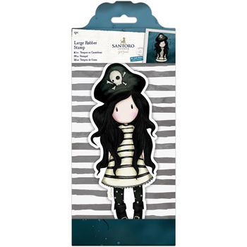 DoCrafts PIRACY Large Cling Stamp Gorjuss 97135