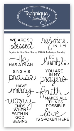 Technique Tuesday REJOICE IN HIM Clear Stamps 02518 zoom image
