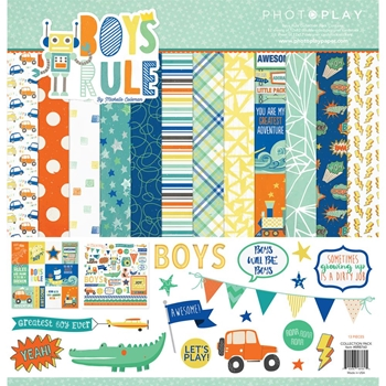 PhotoPlay BOYS RULE 12 x 12 Collection Pack br8760