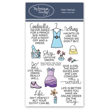 Technique Tuesday SASSY FASHION Clear Stamps 02602