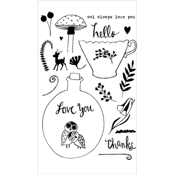 Flora and Fauna OWL ALWAYS LOVE YOU Clear Stamp Set 20162