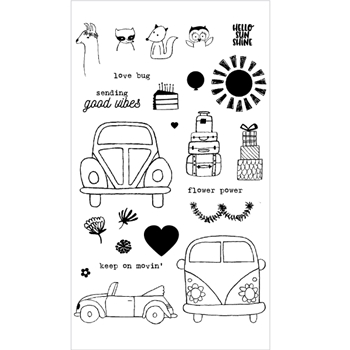 Flora and Fauna LOVE BUG Clear Stamp Set 20161