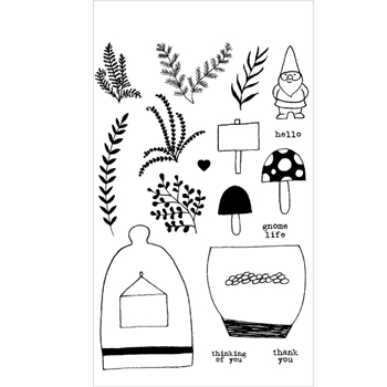 Flora and Fauna GNOME LIFE Clear Stamp Set 20160