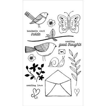 Flora and Fauna AVIARY LOVE Clear Stamp Set 20158