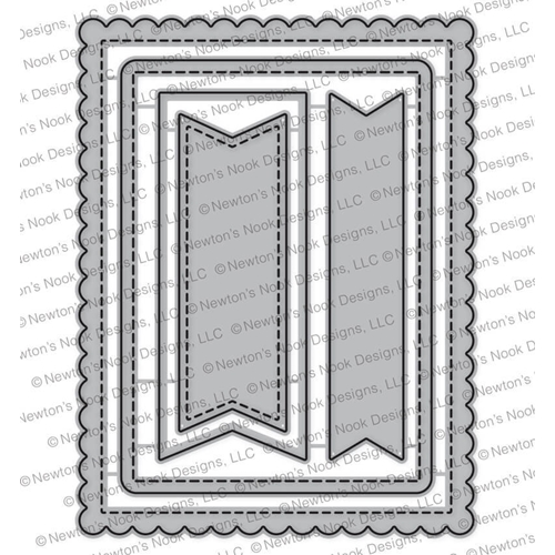 Newton's Nook Designs FRAMES AND FLAGS Die Set NN1711D05 Preview Image