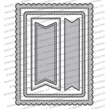 Newton's Nook Designs FRAMES AND FLAGS Die Set NN1711D05
