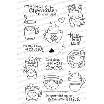 Newton's Nook Designs CUP OF COCOA Clear Stamp Set NN1711S03