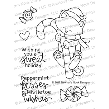 Newton's Nook Designs NEWTON'S CANDY CANE Clear Stamp Set NN1711S02