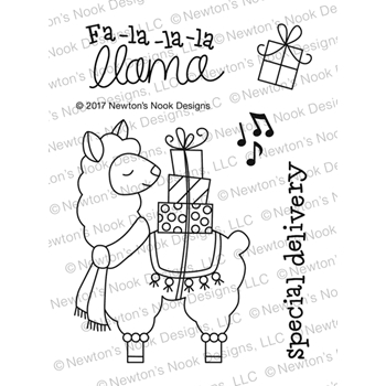 Newton's Nook Designs LLAMA DELIVERY Clear Stamp Set NN1711S01