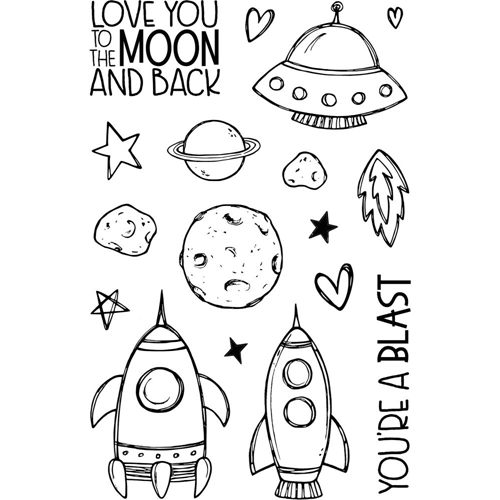 Jane's Doodles TO THE MOON Clear Stamp Set 743245 Preview Image