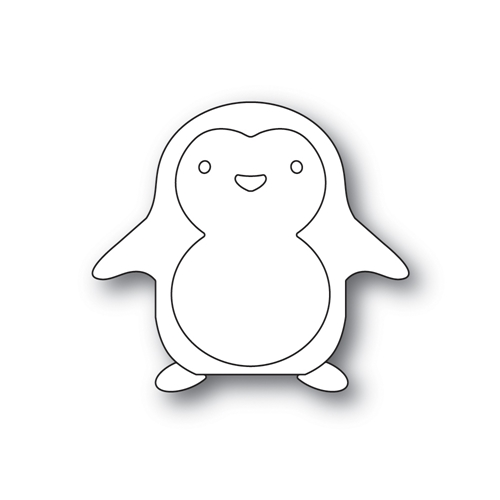Simon Says Stamp PICTURE BOOK HAPPY PENGUIN Wafer Dies s486 Preview Image